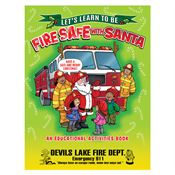 Let's Learn To Be Fire Safe With Santa Educational Activities Book - Personalization Available