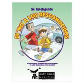 "Be Smart: Say ""No"" To Strangers Educational Activities Book (Spanish) - Personalization Available"