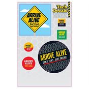 Arrive Alive Repositionable Tech Decals - Personalization Available