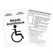 Needs Assistance Emergency Locator Reflective Stickers
