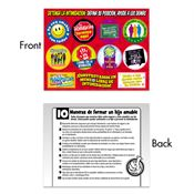 Stop Bullying: Take A Stand, Lend A Hand Sticker Sheet Spanish Version