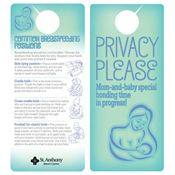 Privacy Please Breastfeeding Door Hanger - Personalization Available