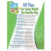 10 Tips For Losing Weight The Healthy Way Laminated Poster