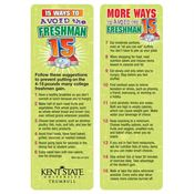 Avoid The Freshman 15 Bookmark - Personalization Available