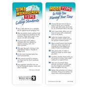 Time Management Tips For College Students Bookmark - Personalization Available