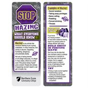 Stop Hazing: What Everyone Should Know Bookmark - Personalization Available