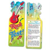 Rock The Test! Guitar-Shaped Bookmark