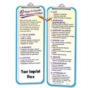 10 Things To Consider When Choosing A College Die Cut Bookmark - Personalization Available