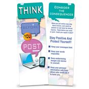 Think Before You Post Bookmark - Personalization Available