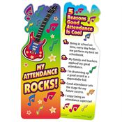 My Attendance Rocks! Die-Cut Bookmark