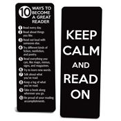 Keep Calm And Read On Die-Cut Bookmark