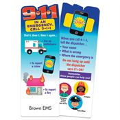Dial 911 In An Emergency Die-Cut Bookmark - Personalization Available
