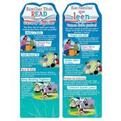 Families That Read Together Succeed Together Bilingual Die-Cut Bookmark