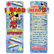 I Read, What's Your Superpower? Die-Cut Bookmark