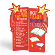 Today A Reader, Tomorrow A Leader Die-Cut Bookmark