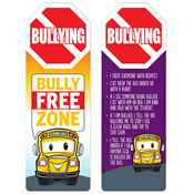 Bullying Bully Free Zone Die-Cut Bookmark