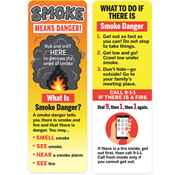 Smoke Means Danger Rub & Sniff Smoke Scented Boookmark