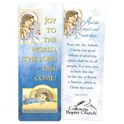 Joy To The World Laminated Bookmark - Personalization Available