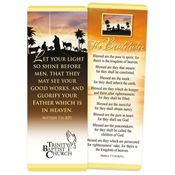 The Beatitudes Gold Foil-Stamped Bookmark - Personalization Available