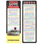 50 Reasons To Love Teaching Deluxe Bookmark - Personalization Available