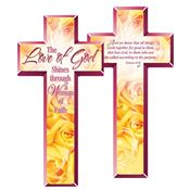 The Love Of God Shines Through A Woman Of Faith Deluxe Die-Cut Bookmarks