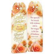 Godly Women Are A Treasure Beyond Measure Deluxe Die-Cut Bookmarks