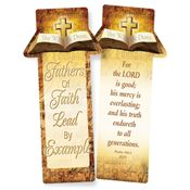 Fathers Of Faith Lead By Example Deluxe Die-Cut Bookmark