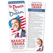 Barack Obama Deluxe Commemorative Bookmark