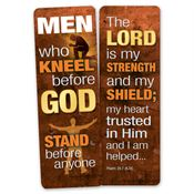 Men Who Kneel Before God Stand Before Anyone Deluxe Die-Cut Bookmark