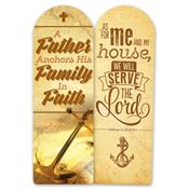 A Father Anchors His Family In Faith Deluxe Die-Cut Bookmark