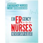 Emergency Nurses Never Skip A Beat Event Week Poster