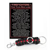 Firefighters: The Thin Red Line Paracord Key Chain With Card