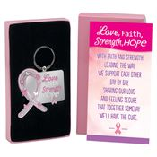 Love, Faith, Strength, Hope Die-Cut Key Tag With Keepsake Card