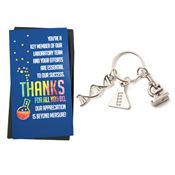 Microscope Charm Key Tag with Keepsake Card