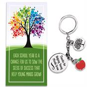 Thanks For Helping Young Minds Grow Charm Key Tag With Keepsake Card