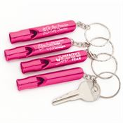 Breast Cancer Awareness Metal Whistle/Key Ring Assortment Pack