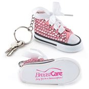 Pink Bling Mini Hi-Top Sneaker Key Tag - Personalization Available