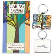 Caring Is Always In Season Enamel Key Tag With Keepsake Card - Personalized
