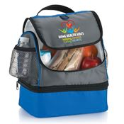 Home Health Aides: Helping Hands Caring Hearts Bayport Dual Compartment Lunch Bag