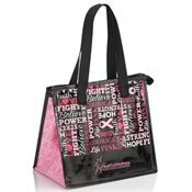 Laminated Insulated Breast Cancer Awareness Lunch Bag - Personalization Available