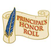 Principal's Honor Roll Scribe Design Lapel Pin