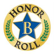 """B"" Honor Roll Star Lapel Pin"