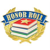 Honor Roll Books Design Lapel Pin