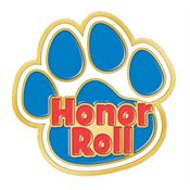 Honor Roll Paw Design Lapel Pin
