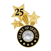 25 Years Of Service Triple Star Lapel Pin