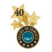 40 Years Of Service Lapel Pin