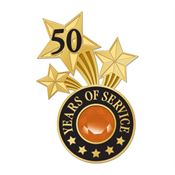 50 Years Of Service Lapel Pin