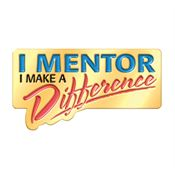 I Mentor I Make A Difference Lapel Pin With Presentation Card
