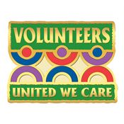 Volunteers: United We Care Lapel Pin With Presentation Card