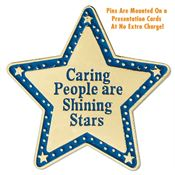 Caring People Are Shining Stars Lapel Pin with Presentation Card